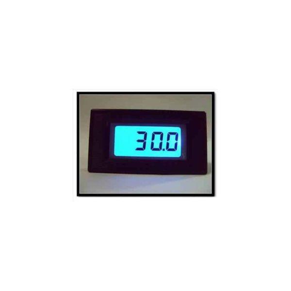 DC Panel Mounted Volt Meter Blue Backlight