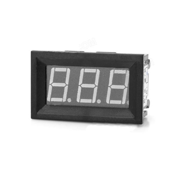 Red Panel Mount 200A LED Ammeter