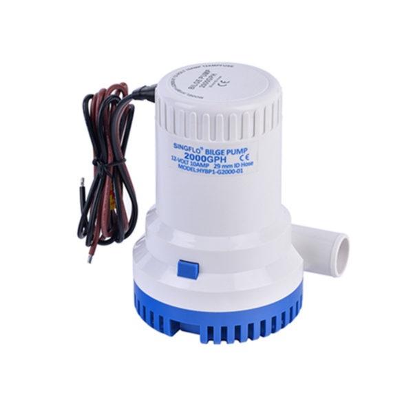20171115161334 78134 600x600 - DC 24V Small Boat Submersible Bilge Water Pump -<strong>24VDC 2000GPH Submersible bilge p</strong><strong>ump</strong>  Compact, efficient, long life motors  Easy clean snap-lock strainer bases  Anti-Airlock protection  Exclusive moisture tight seals  Completely submersible  Marine grade blocked wiring  Silent and vibrationless operation - marine-pumps - 20171115161334 78134 600x600