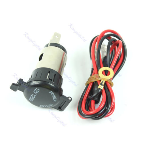 1 - 12V 120W DC Power Point Cigarette Lighter Power Socket -<strong>12V 120W Car Boat Tractor Cigarette Lighter Power Socket Outlet Plug Universal</strong> - dc-accessories - 1