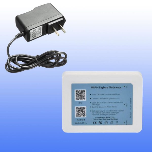 1303936 ZB 01 FB.EPS 1000 600x600 - Zigbee Radio Gateway -Standard Zigbee gateway that is required to control sets of Zigbee devices. This device will connect to your local Wifi network and bridge it to your wireless lighting network. Supports IPv4 and IPv6 protocols. Suitable for direct connection to internet gateways. - grow-lights-generic-led, commerial-lighting - 1303936 ZB 01 FB.EPS 1000 600x600