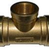 BSP TEE Female 100x100 - Brass Female BSPP Tee Pipe Fitting -Brass Female BSPP Tee BSP Pipe Fittings Adapter For Air/Fuel/Water/Glycol - sdhw-con - BSP TEE Female 100x100
