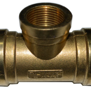 BSP TEE Female 300x300 - Brass Female BSPP Tee Pipe Fitting -Brass Female BSPP Tee BSP Pipe Fittings Adapter For Air/Fuel/Water/Glycol - sdhw-con - BSP TEE Female 300x300