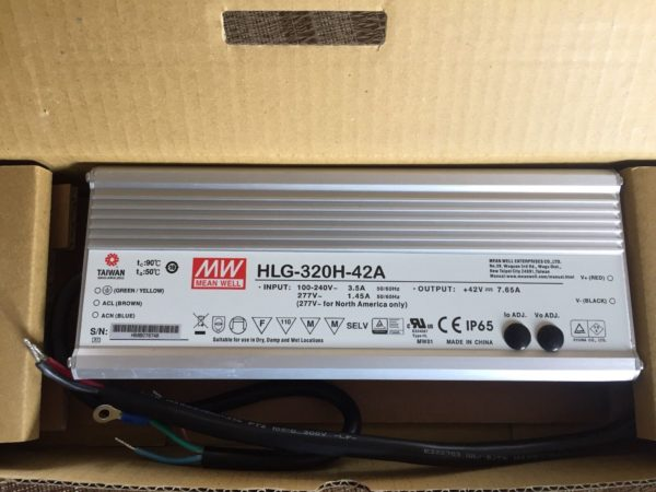 HLG 320H 42a 1 600x450 - HLG-320H-42B -AC-DC Single output LED driver Mix mode (CV+CC); Output 42Vdc at 7.65A; IP67; cable output; Dimming with 1-10V PWM resistance - led-parts - HLG 320H 42a 1 600x450