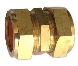 compression fitting 2 - Brass Compression Coupler - 22mm -22mm Compression Straight Coupling / Connector Brass Plumbing Fitting - sdhw-con - compression fitting 2