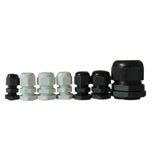 gland group 1 300x300 - Thread Plastic Waterproof Cable Gland Joints -Description: <ul> <li>Used for fixing cables, waterproof IP68 .</li> <li>Special design of the clamping die and rubber, wide clamping range, strong stretching resistance, no damage to cables and devices.</li> <li>Without disassembly, cable can be inserted through directly then tighten easily and save time.</li> <li>Applicable to machinery control boxes , distribution panels, electrical appliances, machines, etc.</li> </ul> - con-ele - gland group 1 300x300