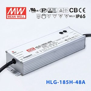 hlg 185h 48A 300x300 - HLG-185-48A Meanwell Driver -AC-DC Single output LED driver Mix mode (CV+CC); Output 48Vdc at 3.9A; IP65; cable output - led-parts - hlg 185h 48A 300x300