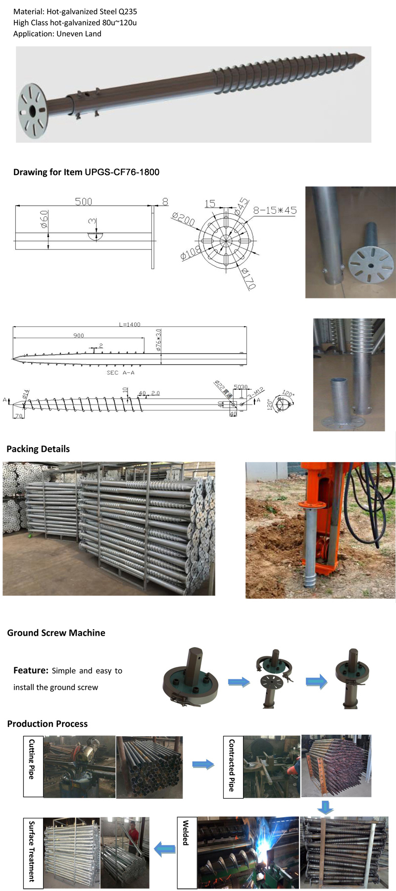 14847238836021131 - Hard Soil Ground Screws -Fixed and  Adjustable Ground Screws for use in mounting ground based solar arrays, decks, and camps. - solar-mounting-equipment - 14847238836021131
