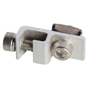 Grounding Lug 300x300 - Grounding Clamp for Solar Mounting Rail -Device to connect ground cable to solar mounting rail system.  Anodized aluminum splice with stainless steel bolt. - solar-mounting-equipment - Grounding Lug 300x300