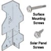 brACKET 100x100 - Solar Panel RV Mounting Kit -Galvanized mounting bracket kit complete with self tapping screws. - solar-mounting-equipment - brACKET 100x100