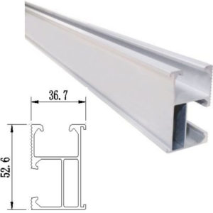 rail1 300x300 - R04 4400mm (14.4') Solar Mounting Rail -Single length of solar mounting rail. Usually good for 3 solar modules before requiring an extension.  Anodized aluminum splice with stainless steel bolt. - solar-mounting-equipment - rail1 300x300