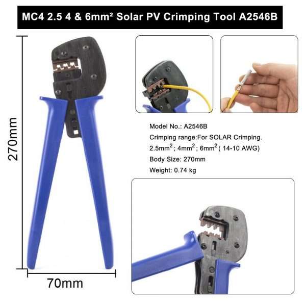 5 600x600 - A-2546B MC4 Crimping Pliers -Premium quality MC4 Crimp Tool - tools, solar-pv-tools - 5 600x600