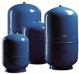 ST Expansion Tank - Steel Expansion Storage Tank -These are designed for use with water or proplylene glycol as part of a solar hot water or heating system.  They are available in several sizes. - sdhw-tanks - ST Expansion Tank