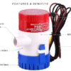20161104105031 34636 100x100 - 750 GPH 12V DC Submersible Marine Boat Bilge Sea Water Pump -<strong>Bilge p</strong><strong>ump</strong> does not have an integrated switch  Compact, efficient, long life motors  Easy clean snap-lock strainer bases  Anti-Airlock protection  Exclusive moisture tight seals  Completely submersible  Marine grade blocked wiring  Silent and vibrationless operation - marine-pumps - 20161104105031 34636 100x100