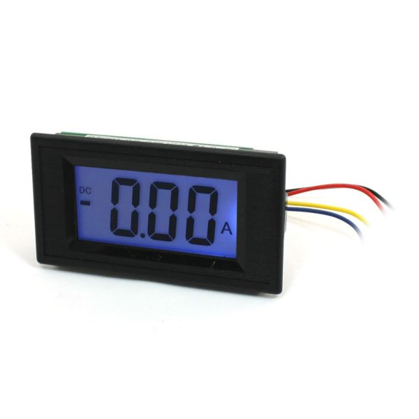 """2930ebe4 be6c 4d40 9cd6 f65918648701 600x600 - DC 0-10A 3 Digit Blue LCD Display Panel Ammeter -Digital Panel Ammeter  Type : DC 0-10A  Digits Color : Black  Backlight Color: Blue  Total Size : 7.8 x 4.1 x 2.8cm/3.1"""" x 1.6"""" x 1.1""""(L W T)  Mounting Hole Size : 7.5 x 3.9cm/3"""" x 1.5""""(L W) - ammeters - 2930ebe4 be6c 4d40 9cd6 f65918648701 600x600"""