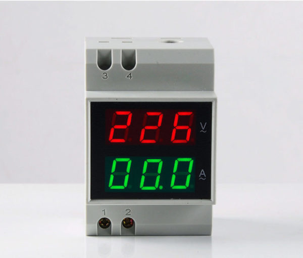 D52 2042 Double Display DIN RAIL Red Green AC80 300V AC0 1 99 9A Digital AC.jpg 640x640 600x510 - Digital Din-Rail AC Ammeter Voltmeter Dual LED Display -Voltage measurement range: 80~300V; Current: 0.1~99.9A; Display screen: 0.55 LED 6-digit; Accuracy: 1%; Power consumption: <0.2VA; Din rail mounting; Speed: 2/s; Voltage red display, current blue display; Easy installation and operation; Direct digit display; High accuracy, wide reading range. - volt-meters, amp-volt-meters, ammeters - D52 2042 Double Display DIN RAIL Red Green AC80 300V AC0 1 99 9A Digital AC.jpg 640x640 600x510