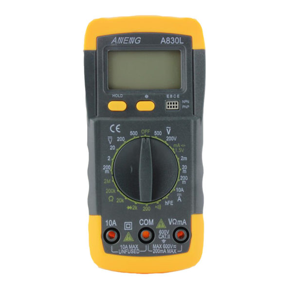 HTB1QqERMVXXXXbwaXXXq6xXFXXX0 600x600 - A830L LCD Digital Multimeter DC AC Multimeter -The meter is a hand held 3-1/2 digital multimeter for measuring AC/DC voltage and AC/DC current, resistance, diode , transistor, frequency, temperature and continuity test. Battery operated. - volt-meters, amp-volt-meters, ammeters - HTB1QqERMVXXXXbwaXXXq6xXFXXX0 600x600