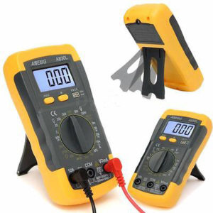 LCD Digital Multimeter Voltmeter AC DC Ohmmeter Ammeter Capacitance 300x300 - A830L LCD Digital Multimeter DC AC Multimeter -The meter is a hand held 3-1/2 digital multimeter for measuring AC/DC voltage and AC/DC current, resistance, diode , transistor, frequency, temperature and continuity test. Battery operated. - volt-meters, inst-env, amp-volt-meters, ammeters - LCD Digital Multimeter Voltmeter AC DC Ohmmeter Ammeter Capacitance 300x300