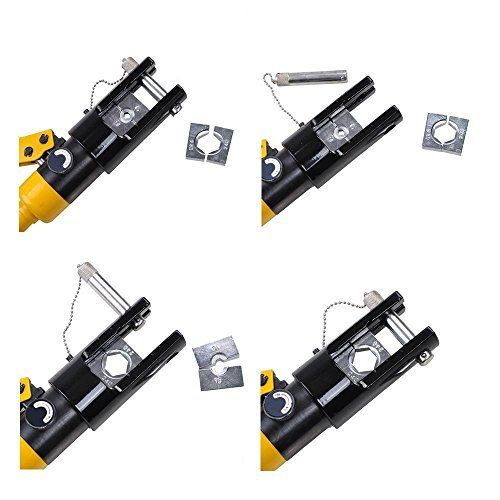 3 - 16 Ton Hydraulic Battery Wire Crimping Tool + 11  Cable Lug Dies -16 Ton Hydraulic Wire Crimper Crimping Tool 11 Dies Battery Cable Lug Terminal - tools, con-ele - 3