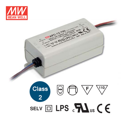 APC 12 350 - APC-12-350 -AC-DC Single output LED driver Constant Current (CC); Output 00.35A at 9-36Vdc - led-parts - APC 12 350
