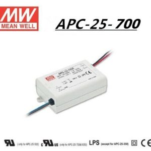 APC 25 700 300x300 - APC-25-700 -AC-DC Single output LED driver Constant Current (CC); Output 0.7A at 11-36Vdc - sign-led, led-parts - APC 25 700 300x300