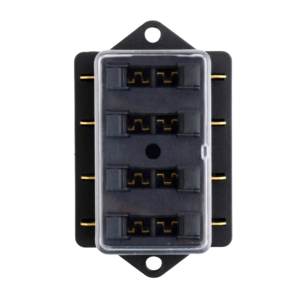 4 Gang Isolated nch ATO/ATC Fuse Block  Gang Fuse Box on 8 battery box, 8 gear box, 8 breaker box, 8 spring box,