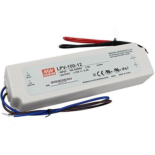 LPV 100 12 - LPV-100-12 Meanwell Driver -AC-DC Single output LED driver Constant Voltage (CV); Output 12Vdc at 8.5A; cable output - sign-led, led-parts - LPV 100 12