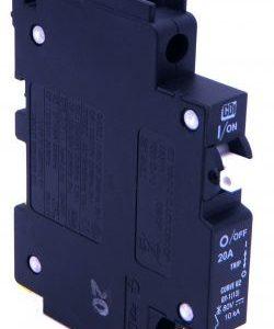 QY 1 Side 1  250x300 - 15A DIN rail DC Breaker QY18U215B1 -CBI QY18U215B1, SUNB15 Midnight Solar MNEPV15 CU2, 15A DM,125-150VDC, 13mm, 1 pole Ciruit Braker - breaker - QY 1 Side 1  250x300