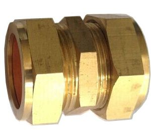 compression fitting 2 300x273 - Brass Compression Coupler - 22mm -22mm Compression Straight Coupling / Connector Brass Plumbing Fitting - sdhw-con - compression fitting 2 300x273