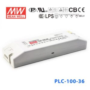 plc 100 36 300x300 - PLC-100-36 -AC-DC Single output LED driver Constant Voltage (CV); Output 36Vdc at 2.65A; I/O screw terminal block - led-parts - plc 100 36 300x300