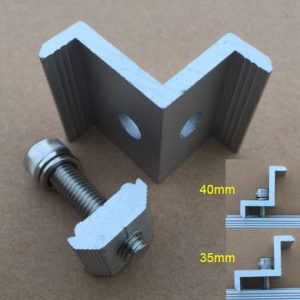 IMG 7932 300x300 - Z Clamp Solar Mount End Clamp Kit -Clamp for the end point of a solar panel to secure it to a solar mounting rail. Includes clamp, stainless steel screw, washer, lock washer and anchor.Anodized aluminum with stainless steel bolt.Choose the size that matches the thickness of the solar panel you are mounting. - solar-mounting-equipment - IMG 7932 300x300