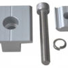 T Clamp Kit 100x100 - T Clamp Solar Mount Middle Clamp -Clamp for the middle point of a solar panel to secure it to a solar mounting rail. Includes clamp, stainless steel screw, washer, lock washer and anchor.  Anodized aluminum with stainless steel bolt.  Choose the size that matches the thickness of the solar panel you are mounting. - solar-mounting-equipment - T Clamp Kit 100x100