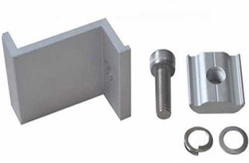 Z Clamp Kit - Z Clamp Solar Mount End Clamp Kit -Clamp for the end point of a solar panel to secure it to a solar mounting rail. Includes clamp, stainless steel screw, washer, lock washer and anchor.Anodized aluminum with stainless steel bolt.Choose the size that matches the thickness of the solar panel you are mounting. - solar-mounting-equipment - Z Clamp Kit