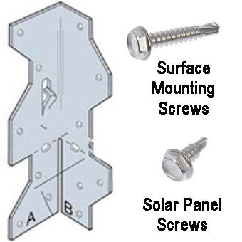 brACKET - Solar Panel RV Mounting Kit -Galvanized mounting bracket kit complete with self tapping screws. - solar-mounting-equipment - brACKET