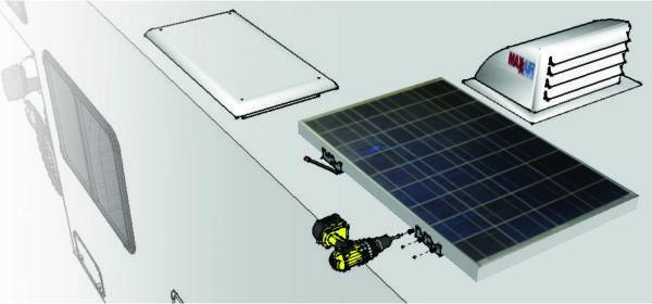 mounting kit 600x280 - Solar Panel RV Mounting Kit -Galvanized mounting bracket kit complete with self tapping screws. - solar-mounting-equipment - mounting kit 600x280
