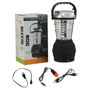 "package 300x300 - Solar Outdoor Camping Lantern -<div id=""title"" class=""panel-heading""> Features</div> <div id=""text-body"" class=""panel-body""> <ul> <li style=""list-style-type: none;""> <ul> <li>Just one minute of easy cranking at approximately 120 rpm provides 20 minutes of light</li> </ul> </li> </ul> <ul> <li style=""list-style-type: none;""> <ul> <li>Crank Power or Solar Power</li> </ul> </li> </ul> <ul> <li style=""list-style-type: none;""> <ul> <li>Great for camping, hiking, power outages, boating, auto and more</li> </ul> </li> </ul> <ul> <li style=""list-style-type: none;""> <ul> <li>Hanging/Carrying Handle</li> </ul> </li> </ul> <ul> <li style=""list-style-type: none;""> <ul> <li>Solar Charging Time: Approximately 6 Hours</li> </ul> </li> </ul> <ul> <li>No charger included with this item</li> </ul> </div> - solar-powered-devices - package 300x300"