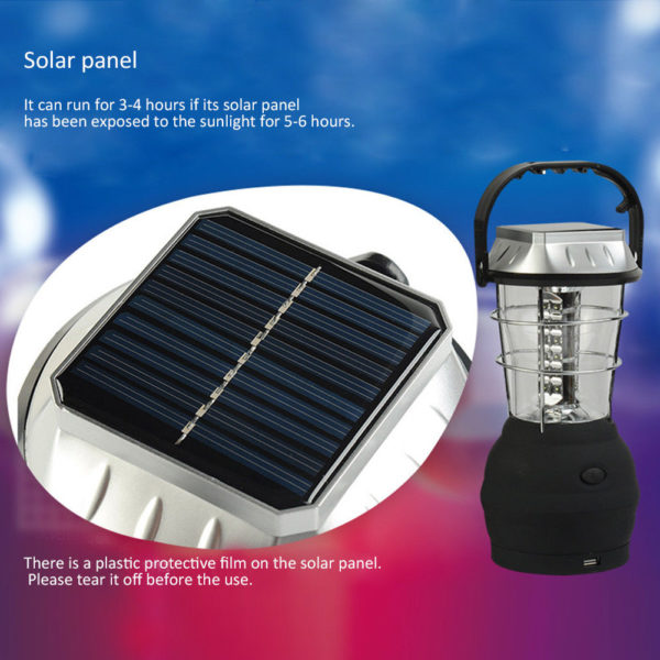 "solar 600x600 - Solar Outdoor Camping Lantern -<div id=""title"" class=""panel-heading""> Features</div> <div id=""text-body"" class=""panel-body""> <ul> <li style=""list-style-type: none;""> <ul> <li>Just one minute of easy cranking at approximately 120 rpm provides 20 minutes of light</li> </ul> </li> </ul> <ul> <li style=""list-style-type: none;""> <ul> <li>Crank Power or Solar Power</li> </ul> </li> </ul> <ul> <li style=""list-style-type: none;""> <ul> <li>Great for camping, hiking, power outages, boating, auto and more</li> </ul> </li> </ul> <ul> <li style=""list-style-type: none;""> <ul> <li>Hanging/Carrying Handle</li> </ul> </li> </ul> <ul> <li style=""list-style-type: none;""> <ul> <li>Solar Charging Time: Approximately 6 Hours</li> </ul> </li> </ul> <ul> <li>No charger included with this item</li> </ul> </div> - solar-powered-devices - solar 600x600"