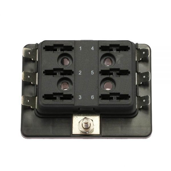 1 3 600x600 - 6 Gang ATO/ATC Common Bus Fused Distribution Block With Spade Terminals -DC32V 6 Way Circuit Car Automotive Auto Blade Fuse Box Holder With LED Lamp ATC ATO Suitable for all marine, motor-home, automotive & motorsport applications, including 6v, 12v & 24v systems (maximum voltage 32v) - fuse-holders - 1 3 600x600