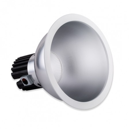 "14084986892896 448x448 - 10"" Commercial 347V Pot Light -<strong>Features</strong><strong> ●    </strong>cULus, ENERGY STAR® Listed <strong> ●    </strong>40°beam angle <strong> ●    </strong>Integrates a CREE COB using CREE TrueWhite technology <strong> ●    </strong>5 years limited warranty <strong> ●    </strong>0-10v dimming and triac dimming options available <strong> ●    </strong>Damp location rated - led-pot - 14084986892896 448x448"