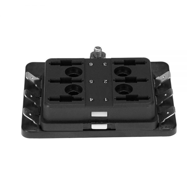 3 2 600x600 - 6 Gang ATO/ATC Common Bus Fused Distribution Block With Spade Terminals -DC32V 6 Way Circuit Car Automotive Auto Blade Fuse Box Holder With LED Lamp ATC ATO Suitable for all marine, motor-home, automotive & motorsport applications, including 6v, 12v & 24v systems (maximum voltage 32v) - fuse-holders - 3 2 600x600