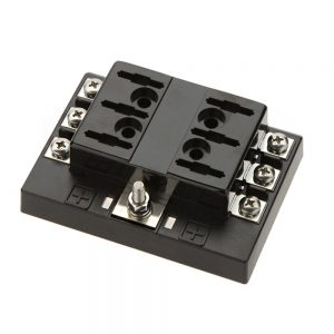 6 gang screw term common bus 1 300x300 - 6 Gang ATO/ATC Common Bus Fused Distribution Block With Screw Terminals -DC32V 6 Way Circuit Car Automotive Auto Blade Fuse Box Holder With LED Lamp ATC ATO Suitable for all marine, motor-home, automotive & motorsport applications, including 6v, 12v & 24v systems (maximum voltage 32v) - fuse-holders - 6 gang screw term common bus 1 300x300