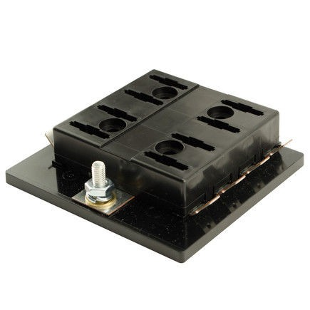 8 Gang ATO/ATC Common Bus Fused Distribution Block With Screw Terminals