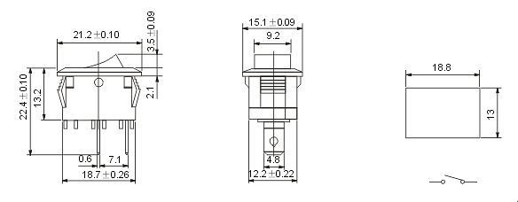 "16133931 - SPST On-Off Rocker Switch -<strong>Technical Parameter</strong> <table border=""1"" cellspacing=""0"" cellpadding=""0""> <tbody> <tr> <td valign=""top"" width=""170"">Rated Voltage, Current</td> <td valign=""top"" width=""170""><span style=""font-family: inherit; font-size: inherit;"">250V @ </span>10A</td> </tr> <tr> <td valign=""top"" width=""170"">Contact Resistance</td> <td valign=""top"" width=""170"">0.05</td> </tr> <tr> <td valign=""top"" width=""170"">Insulation Resistance</td> <td valign=""top"" width=""170"">100M</td> </tr> <tr> <td valign=""top"" width=""170"">Withstand Voltage</td> <td valign=""top"" width=""170"">AC 1500V(50Hz) 1min</td> </tr> <tr> <td valign=""top"" width=""170"">Lifespan</td> <td valign=""top"" width=""170""> 10000 times</td> </tr> </tbody> </table>   - dc-accessories, instrumentation - 16133931"