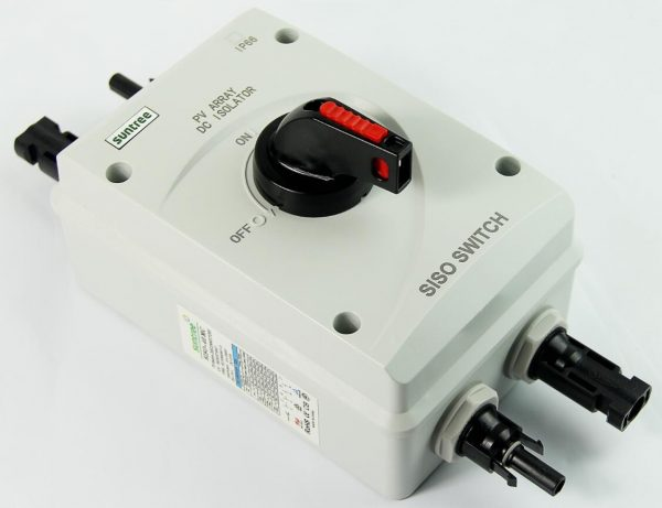 SISO With MC4 1  600x461 - 32A SISO Solar Electrical DC Isolator Switch -32A DC Disconnect - dc-accessories, combiners-and-disconnects - SISO With MC4 1  600x461
