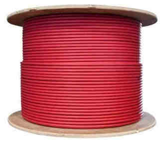 solar-pv-wire-red-10-awg-spool 10 AWG Solar UV Stable Single Conductor Cable - Red - Full Roll 1000' (305M)
