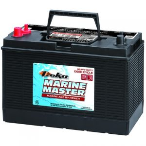 "DC31DT G 300x300 - DEKA DC31DT 12V 105aH Flooded Battery -<strong class=""main-menu-selected-td"">Specifications:</strong> <ul class=""a-unordered-list a-vertical a-spacing-mini""> <li><span class=""a-list-item"">Heavy-duty 12V Deep-cycle flooded lead-acid storage battery for long life.</span></li> <li><span class=""a-list-item"">12-volt 105 Amp Hours @ 20 Hour Rate</span></li> <li><span class=""a-list-item"">Quality Made in USA by East Penn Manufacturing.</span></li> </ul> - batt-fla - DC31DT G 300x300"