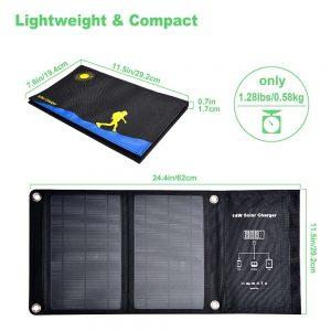 Portable Mobile Solar Charger 14watt Mono Solar Panel Folding Bag 300x300 - 14 Watt Folding Solar Charger - - solar-pv-panels, solar-powered-devices - Portable Mobile Solar Charger 14watt Mono Solar Panel Folding Bag 300x300