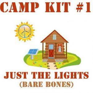 Camp Kit 1 Bare Bones 300x300 - Lights and Phone Charging - Kit #1 - - off-grid-packages - Camp Kit 1 Bare Bones 300x300