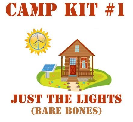 Camp-Kit-1-Bare-Bones Lights and Phone Charging - Kit #1