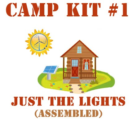 Camp-Kit-2-Assembled Lights and Phone Charging - Kit #1 Assembled